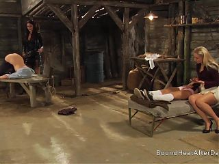 Big Ass Lesbian Slave Spanked And Whipped By Dominant Madame