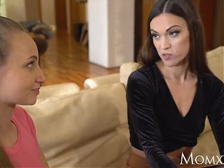 MOM Milf realtor seduces cute younger girl